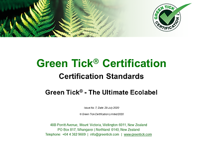 GreenTick_Certification_Standards_Issue7