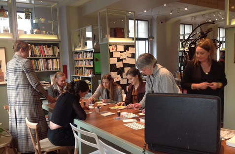 Honeyscribe event in the Reading Room to accompany the Re-Making Nature exhibition at Wellcome Collection, London.