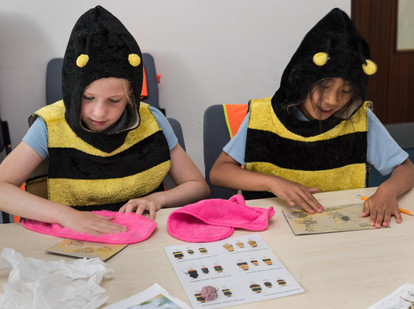A Honeyscribe workshop for primary school children at Princesshay Exeter