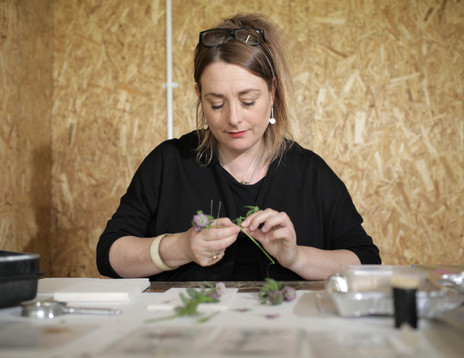 Amy Shelton in residence at Tom Dixon's Shed, Now Gallery, Greenwich Peninsula