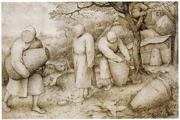 The Beekeepers and the Birdnester (circa 1568) by Pieter Bruegel the Elder