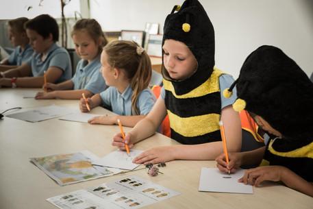 Honeyscribe Hive workshops for schoolchildren in Princesshay