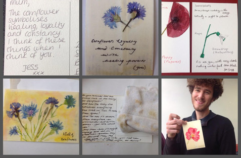 Love Letters workshop at Exeter Central Library in association with Kaleider for Ancient Sunlight project. Delivered by Amy Shelton and author Virginia Baily