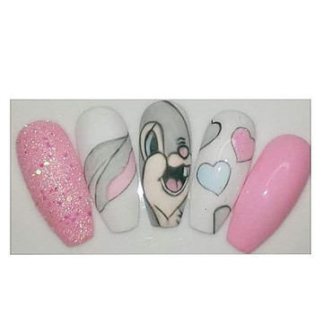 Fancy a cute spring set of nails with co