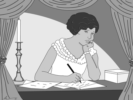 Study of a Young Woman Writing