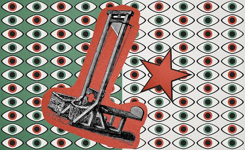 Gillo Pontecorvo's 1966 masterpiece, The Battle of Algiers guillotine Algerian flag