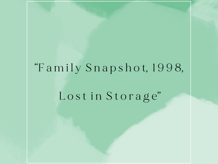 """""""Family Snapshot, 1998, Lost in Storage"""""""