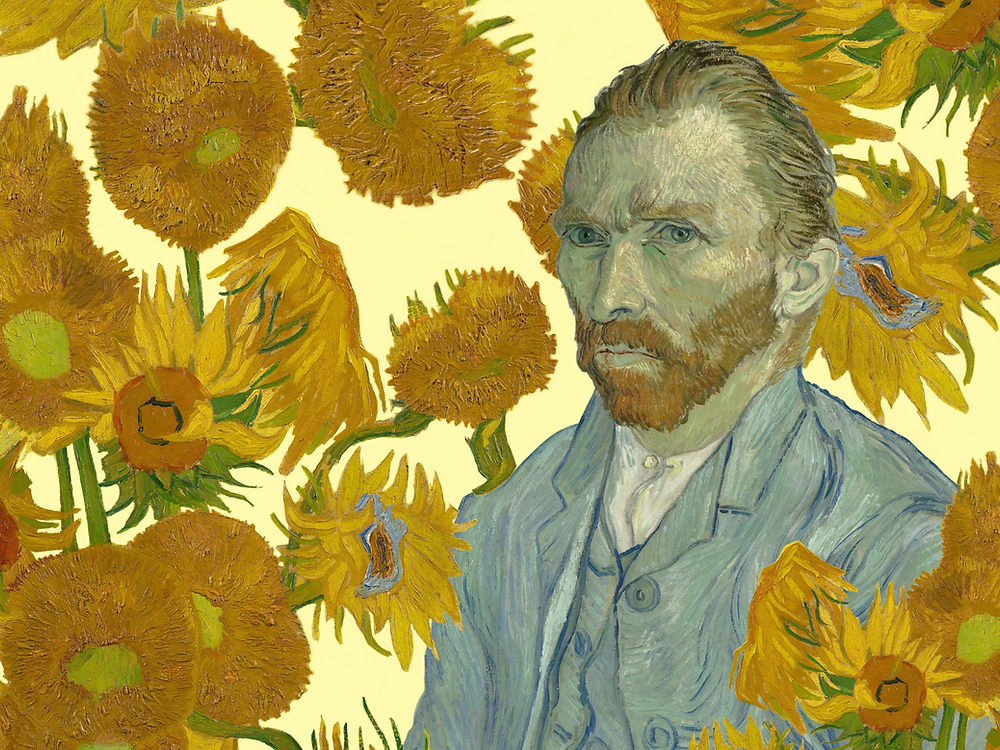 Vincent Van Gogh Sunflowers Self Portrait Vince