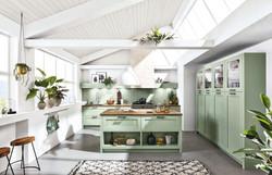Hampton_Pastellgruen Küche Landhausstil