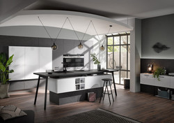 Moderne Küche Marmor dunkel Polarweiss