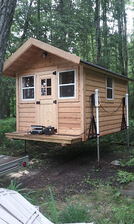 cedar sauna suanas wood burning stove duluth mn minnesota Christensen site prep
