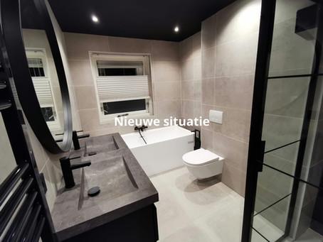 Badkamer gerealiseerd te Meppel