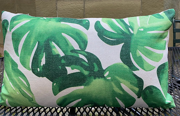 Cremegrünes Junglekissen