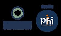 Logo dos apoiadores Movimento Bem Maior e Instituto Phi - Philantropia Inteligente