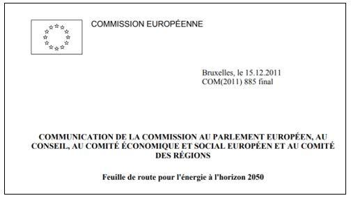 Commission européenne : énergie horizon 2050