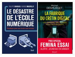 Livres sur l'école numérique et la fabrique du crétin digital