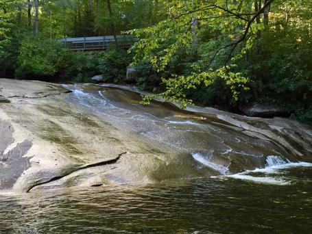 Sliding Rock Falls in Pisgah National Forest