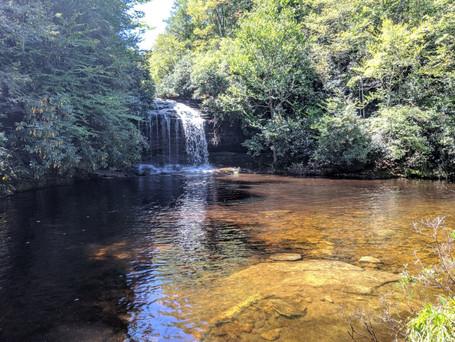 Schoolhouse Falls in Panthertown