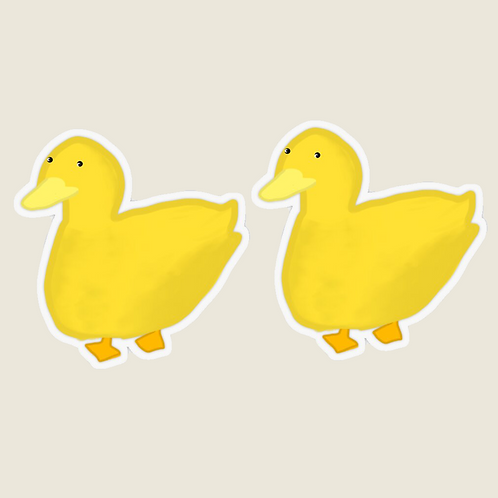 2 Duck stickers transparent