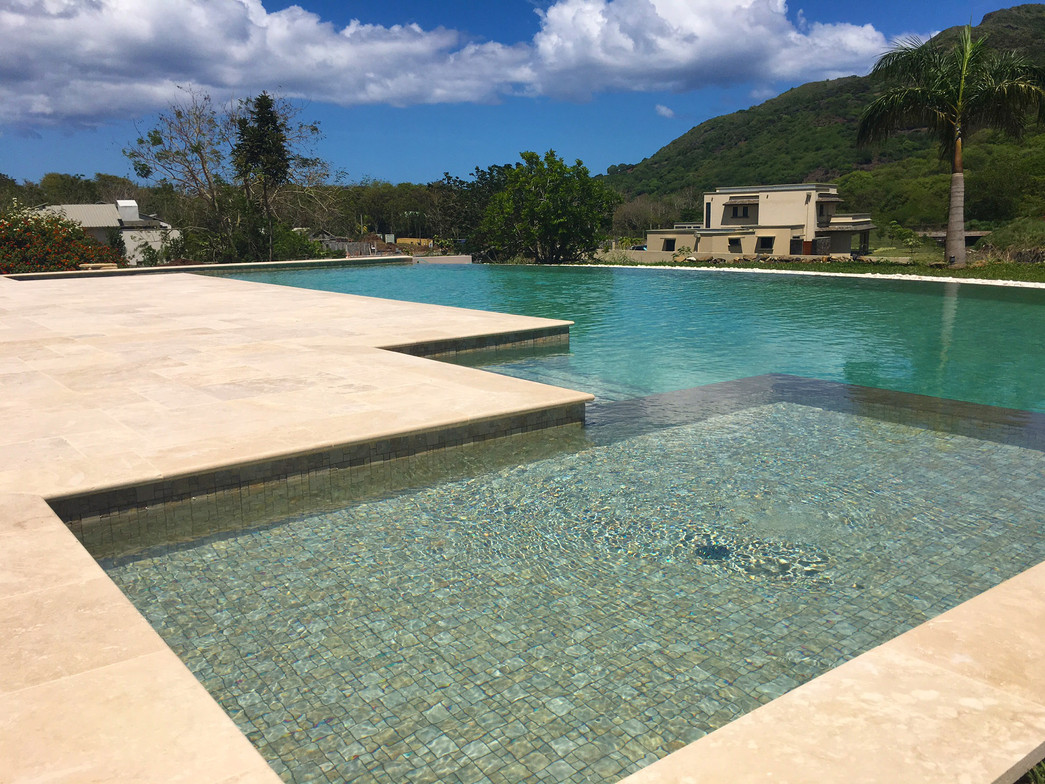 Renovation of pool slates and decking