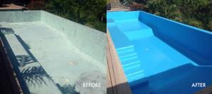 Renovation of fibreglass lining