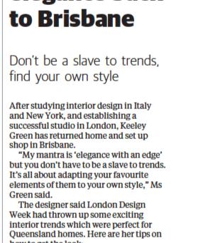 Designer brings edgy elegance back to Brisbane