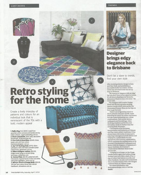 7th April 2018 - 'Courier Mail' Home Trends