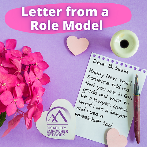 Letter from a role model