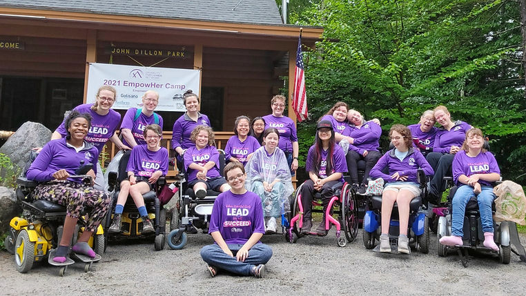 Group of girls and women with disabilities at EmpowHer Camp