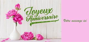 n°2 Joyeux anniversaire bouquet fleurs r
