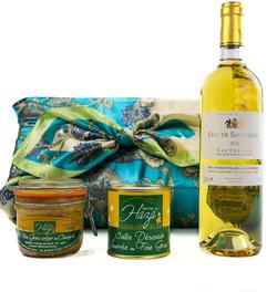 Coffret cadeau Sauternes et foie gras des Landes