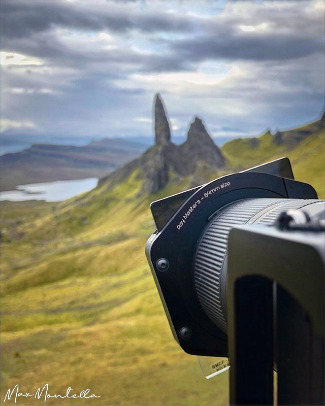 Shooting with the 84mm system @ Old Man of Storr, Isle of Skye, Scotland, United Kingdom