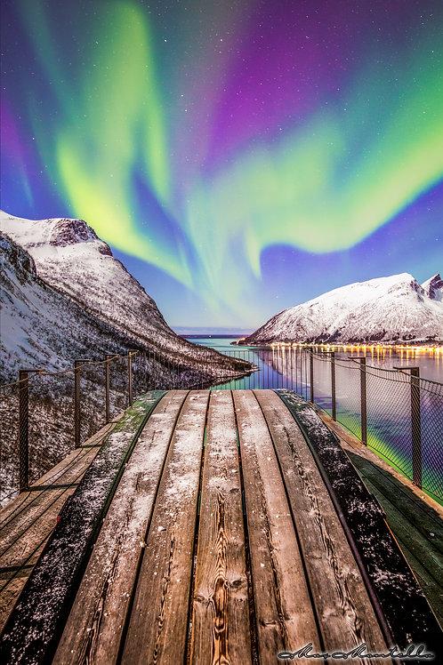 L'aurora boreale sulle coste della Norvegia