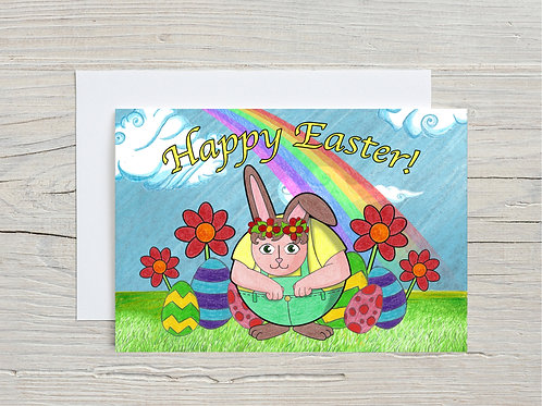 Printed Happy Easter Card