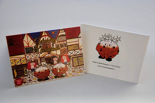 A Set of 10 Cards - New Year with Oliebollen