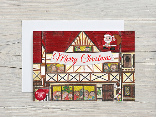 Printable card Merry Christmas