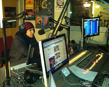 Radio Interview with Ken Laster Photo by Claire Laster