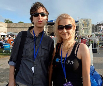At the Newport Jazz Festival with Sevim Yolacti Bakir
