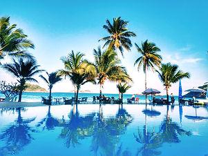 Beach front swimming pool redang
