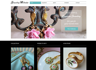jewelry website template wix