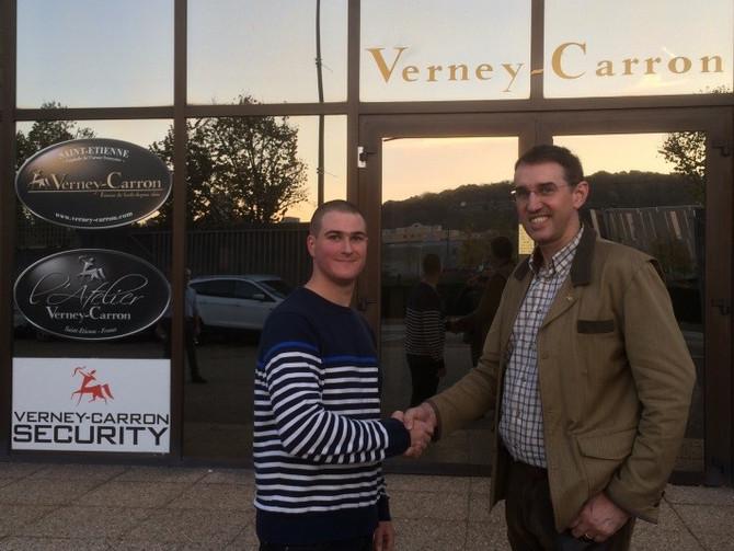 Visite de l'entreprise Verney-Carron avec Sylvain