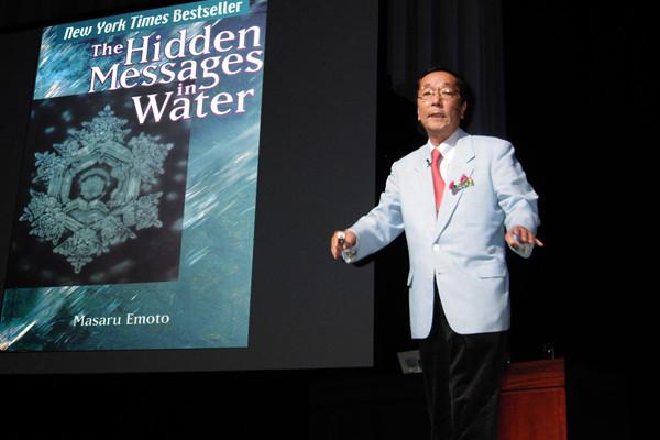 Masaru Emoto, Keynote speaker, los mensajes secretos del agua, pensamientos positivos