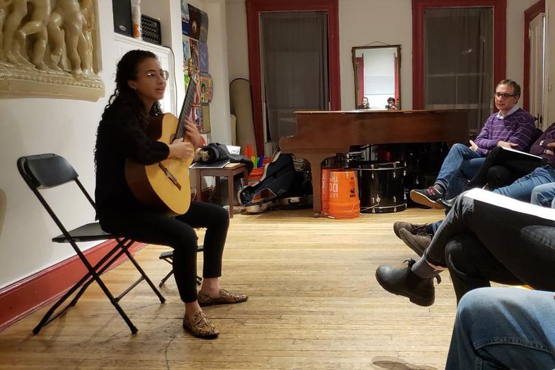 Krístal Rojas performs at Women of Guitar, 2019