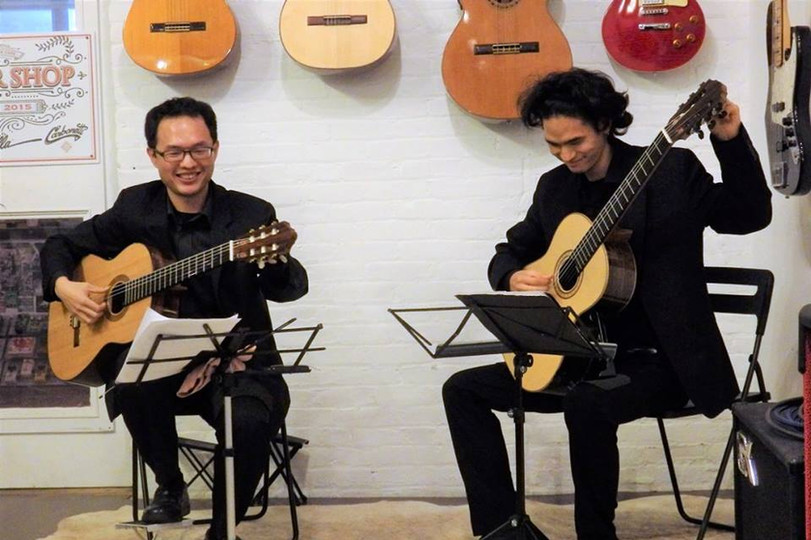Ming Jui-Liu and Koh Kazama perform duets at Odeon Fall 2017
