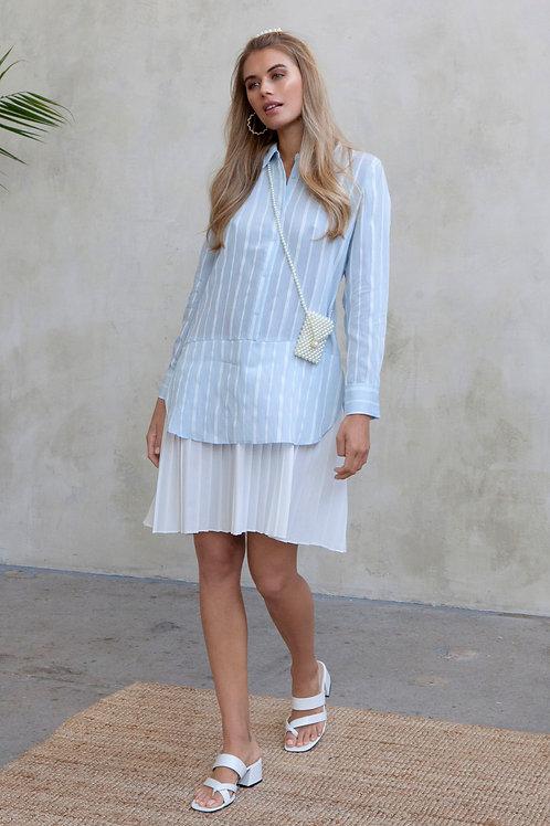 LEXIA SHIRT DRESS - BLUE