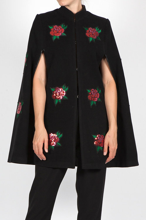 GOLDEN AGE 2 EMBROIDERED ROSE  CAPE