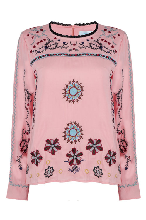 ALLOY EMBROIDERED TOP