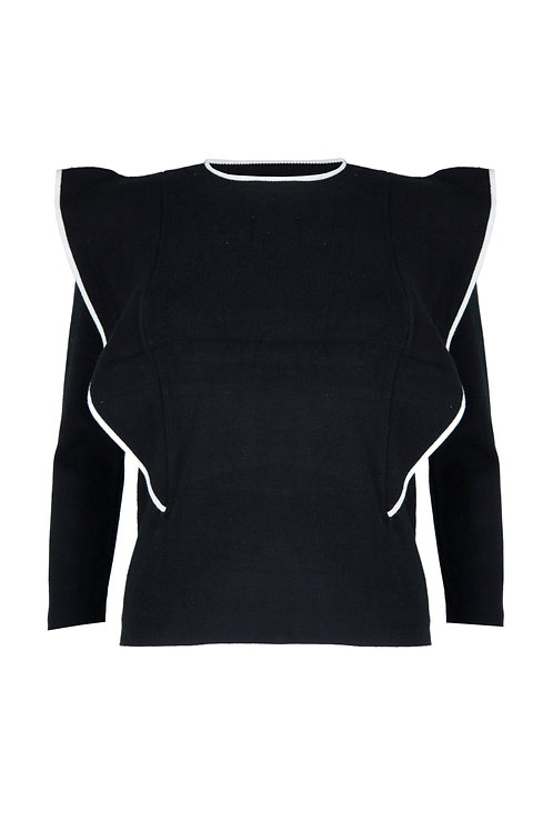 CHEVELEY KNITTED JUMPER – BLACK