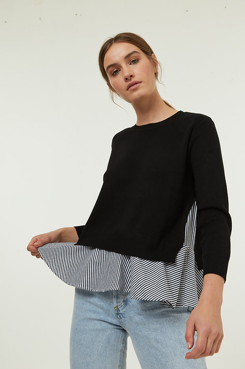 DIXIE KNITTED SWEATER - BLACK