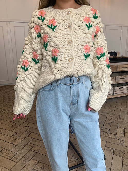 FLORAL CARDIGAN- 2COLORS